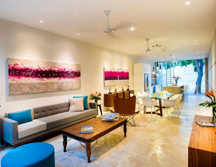 decoracion interiores salones hogar colorido ideas