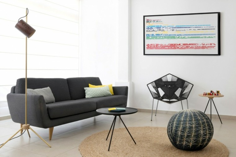 decoracion interiores salones sofa negra ideas