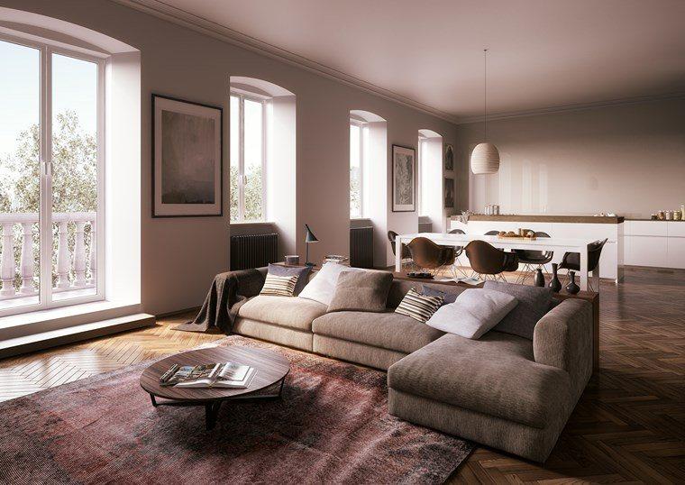 decoracion pisos salones alfombra presiosa ideas
