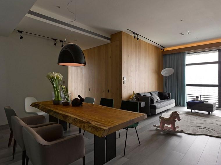 decoracion pisos salones comedor mesa madera ideas