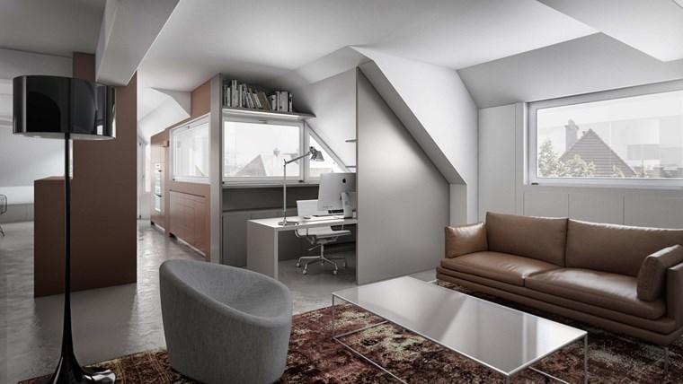 decoracion pisos salones sofa cuero ideas