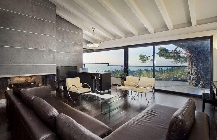 decoracion de salones modernos muebles cuero ideas