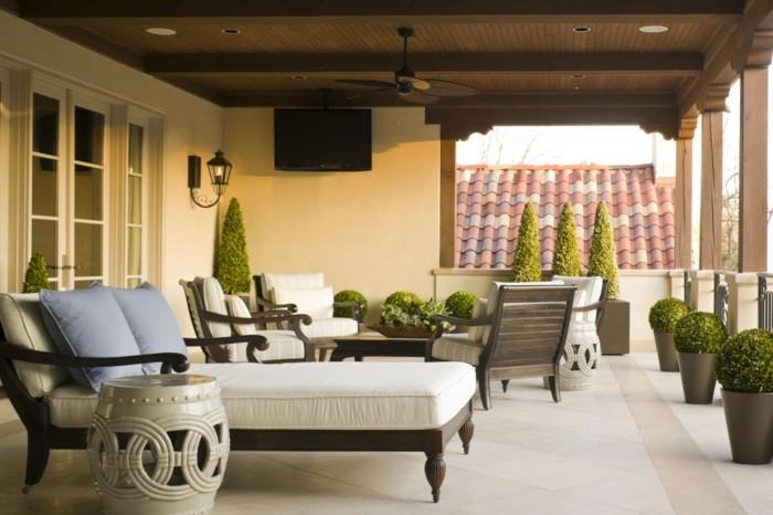 decoracion de terrazas ideas mediterraneo plantas