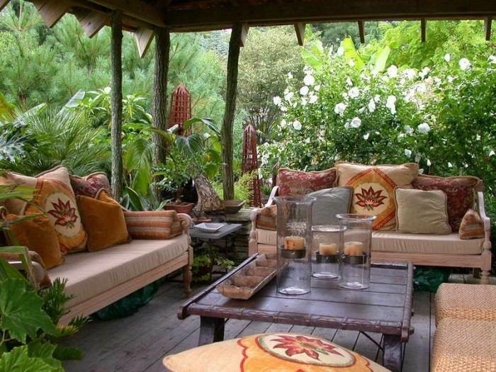 decoracion de terrazas ideas techada cojines