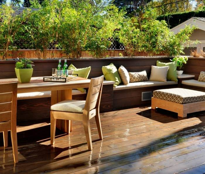 decoracion de terrazas macetas plantas verdes