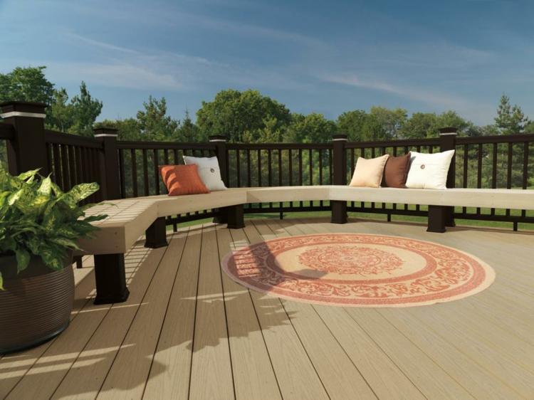 decoracion de terrazas y jardines cojines blanco plantas