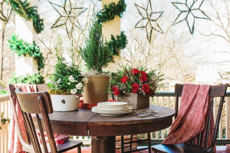 decoracion de terrazas y jardines faroles estrellas balcon