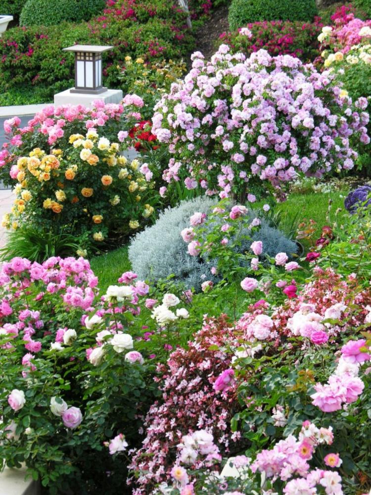 decoracion de terrazas y jardines faroles cesped