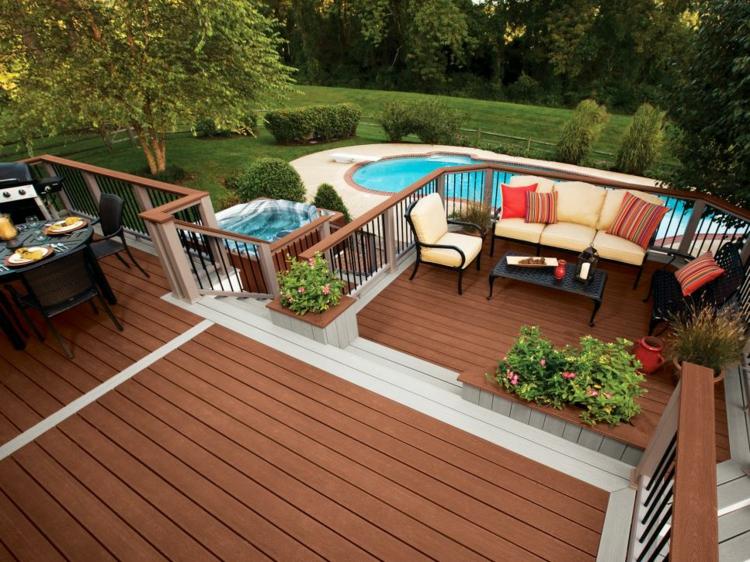 decoracion de terrazas y jardines madera decorado suelos