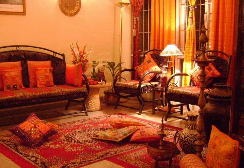 sala etnica colores calidos
