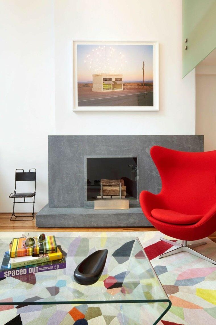 decoracion interiores salones sillon rojo ideas