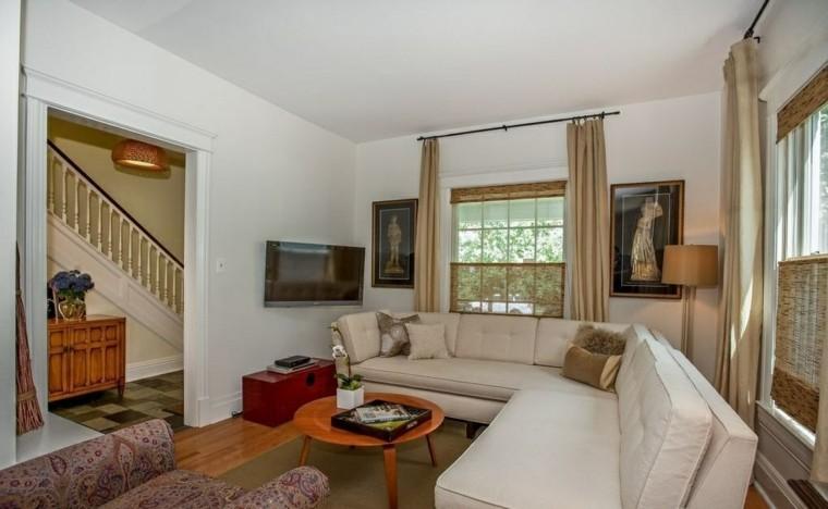 decoracion interiores salones sofa angulo ideas