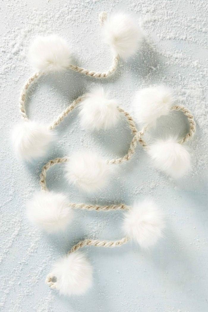 decoracion navidad algodon detalles blanco