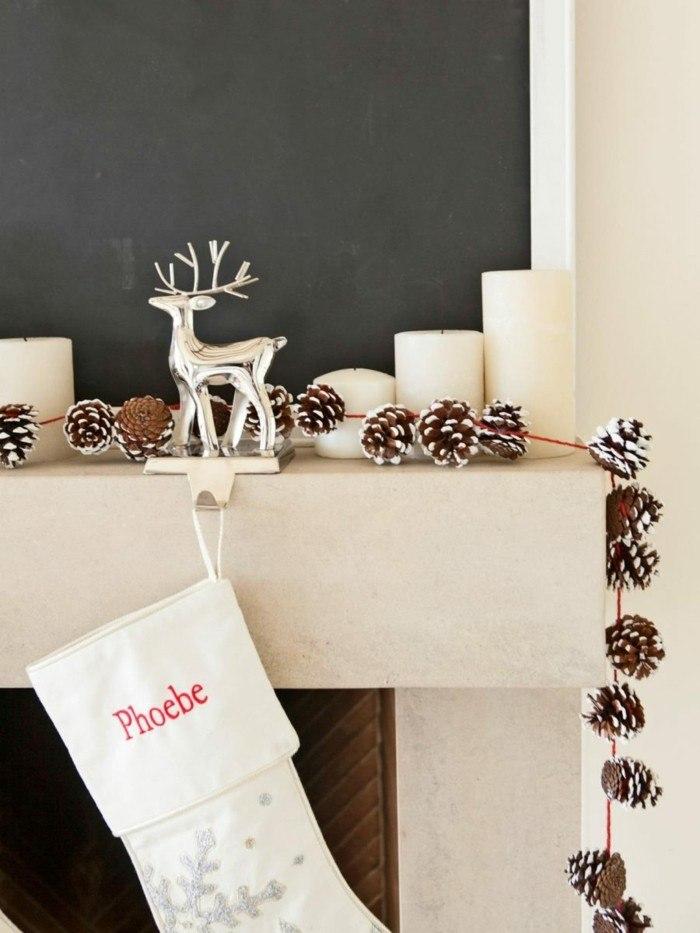 decoracion navidad estilo conos ciervo
