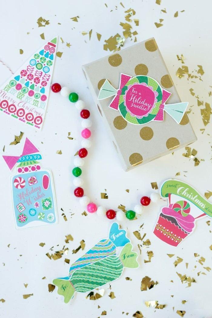 decoracion navidad estilo guirnaldas colores papeles