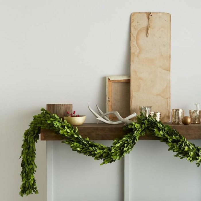 decoracion navidad estilo plantas cuernos