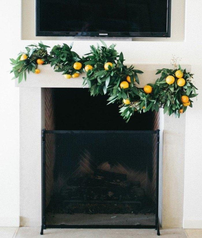 decoracion navidad frutal natural maderas