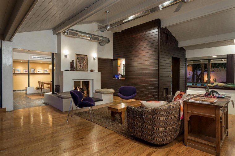 decoracion salones modernos sillas purpura ideas