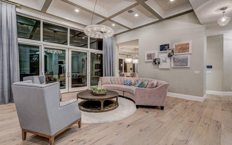 decoracion salones modernos sofa forma original ideas