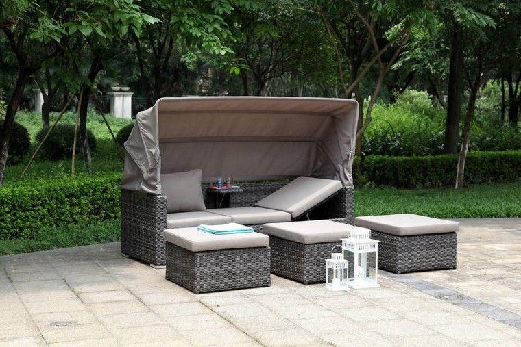 decoracion terraza sofa protegida sol interesante ideas