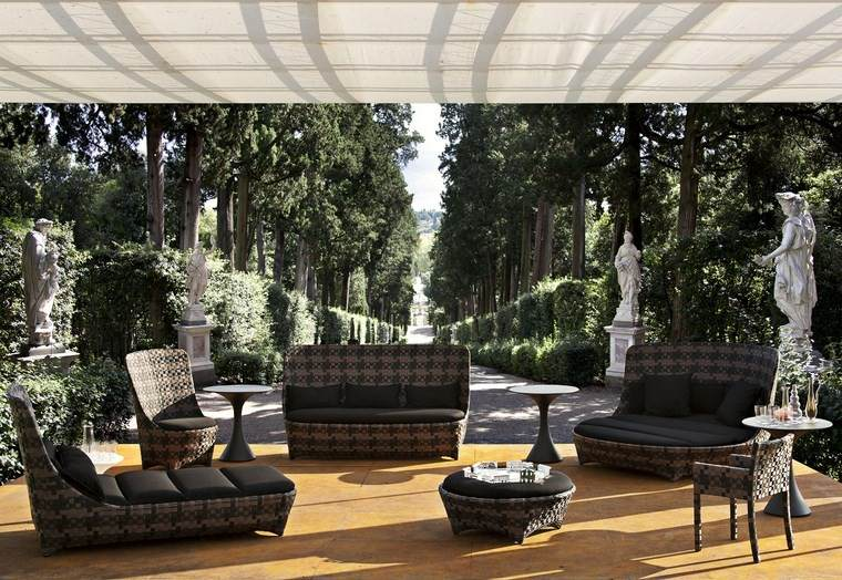 decoracion terrazas muebles diseno moderno ideas