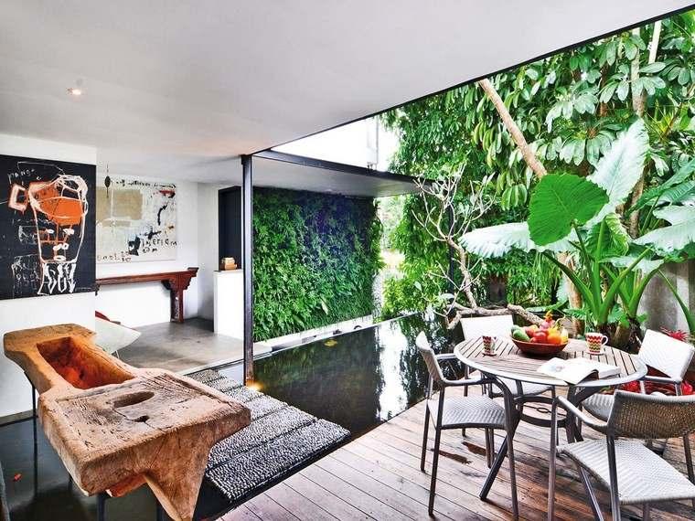 decoracion terrazas pequeñas jardin vertical ideas