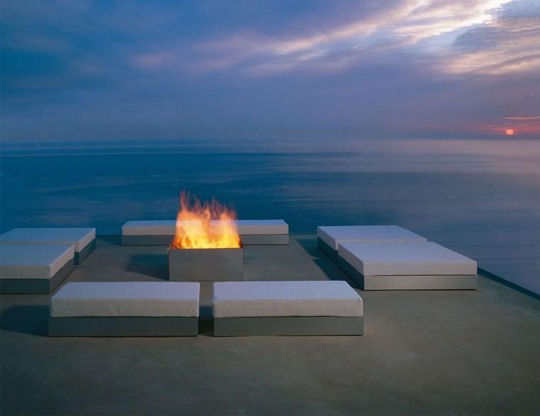 decoracion terrazas pequenas lugar fuegoromantico ideas