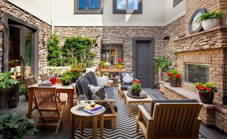 decoracion terraza pequeñas mesa comidas mesita cafe ideas