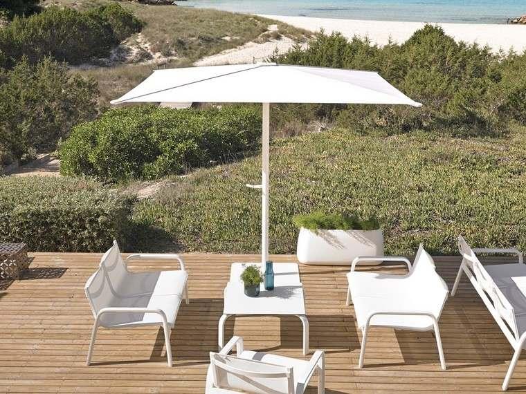 decoracion terraza pequeñas muebles blancos ideas