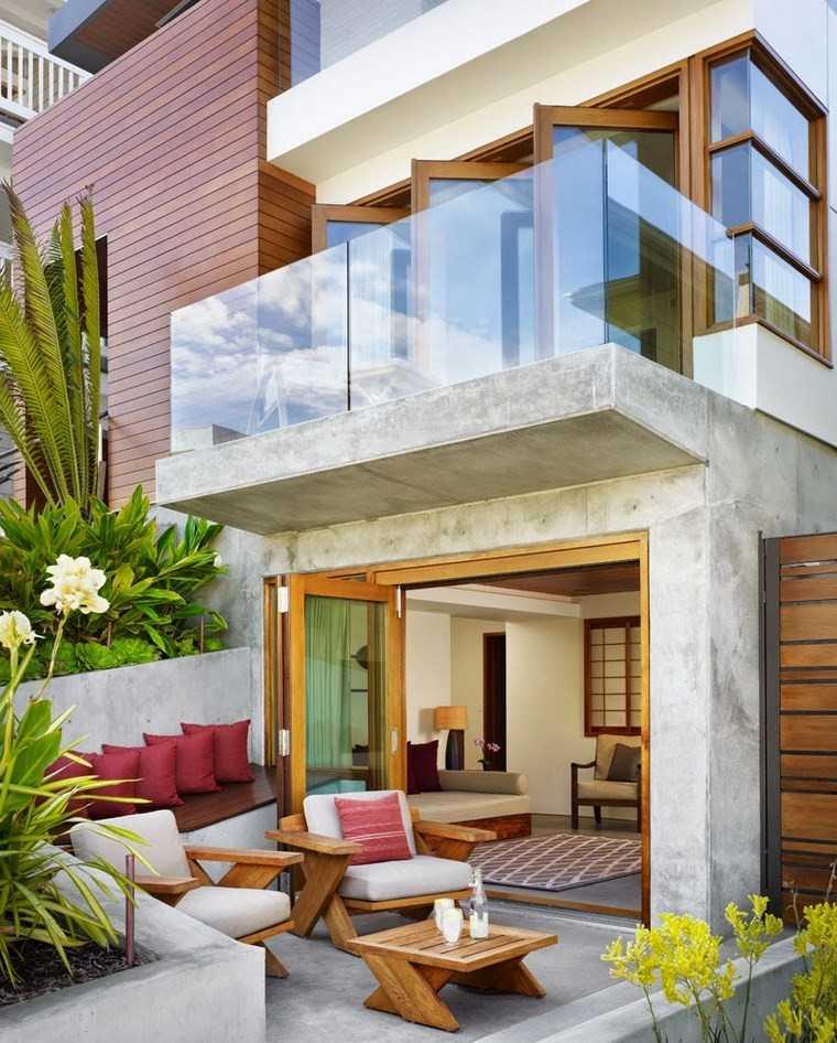 decoracion terrazas pequeñas muebles madera ideas