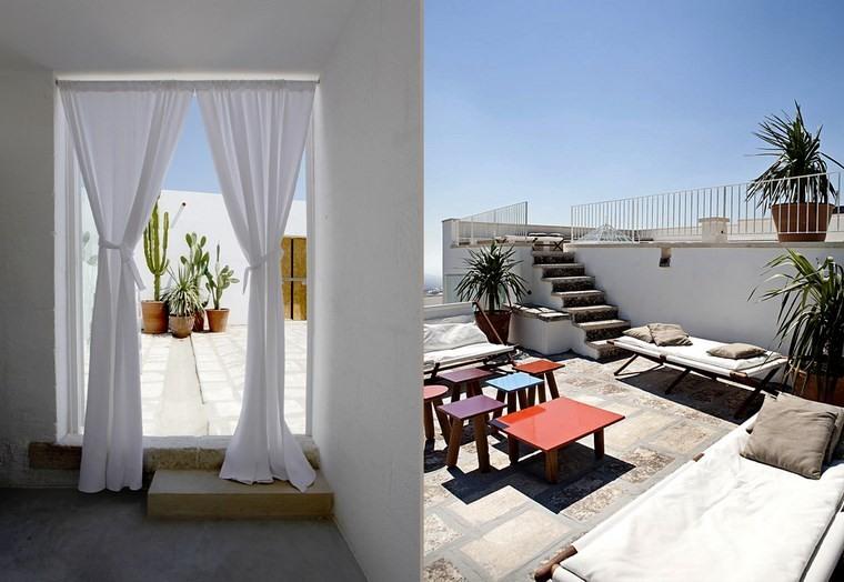 decoracion terraza pequeña muebles originales diseno colores ideas