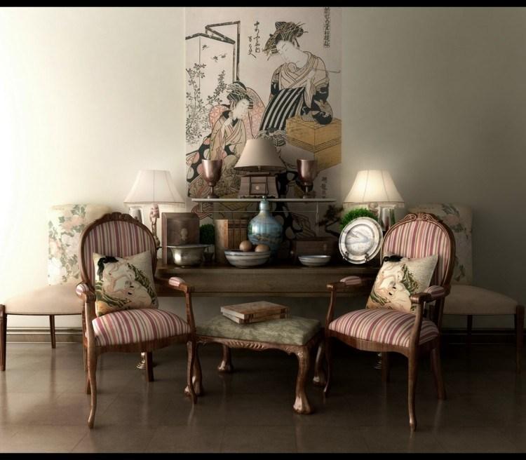 decoracion vintage y chic cojines asiatico