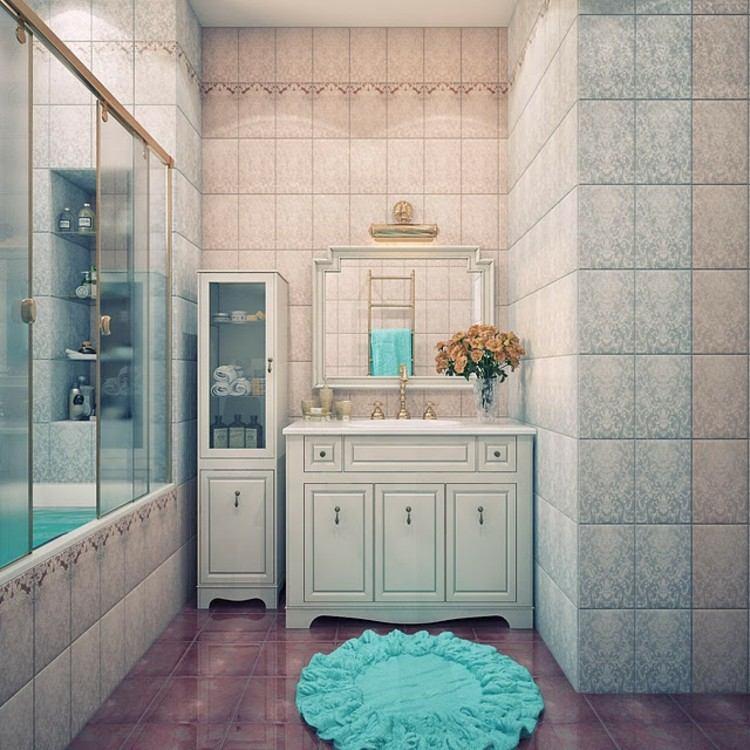 decoracion vintage y chic soluciones azules suelos