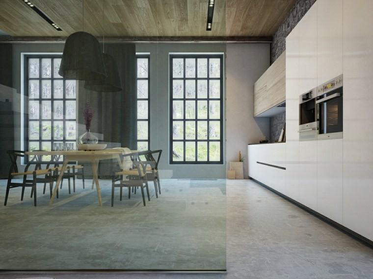 decoraciones cocinas sensillas muebles blancos ideas