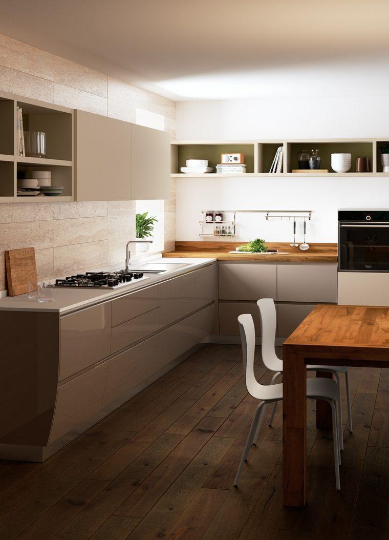 decoraciones cocinas sensillas muebles grices ideas