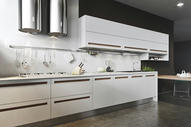 decoraciones cocinas sensillas muebles preciosos blancos ideas