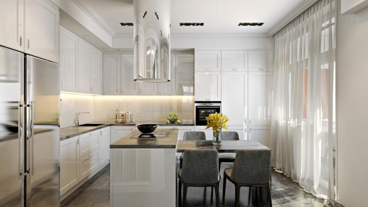 decoraciones de cocinas sencillas iluminacion led ideas
