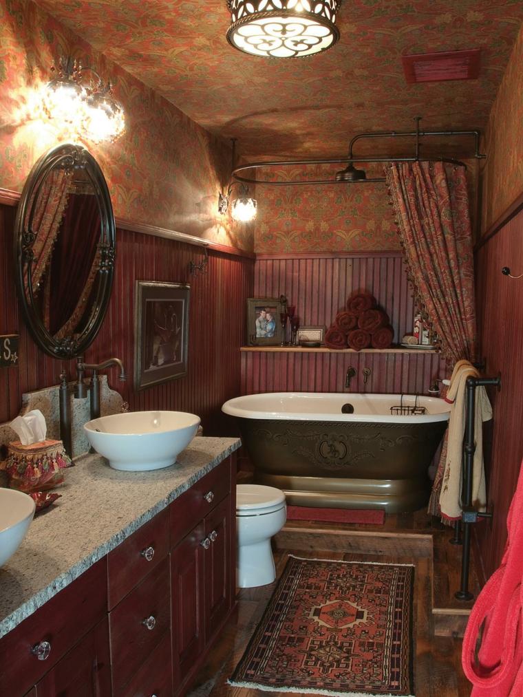 decoraciones de cuartos de baño metales lamparas