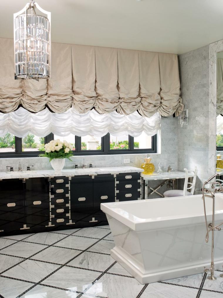 decoraciones de cuartos de baño negro cristales