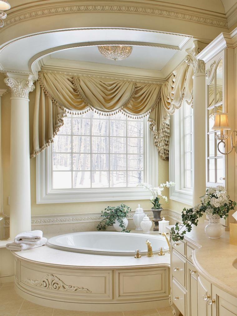 decoraciones de cuartos de baño original columnas