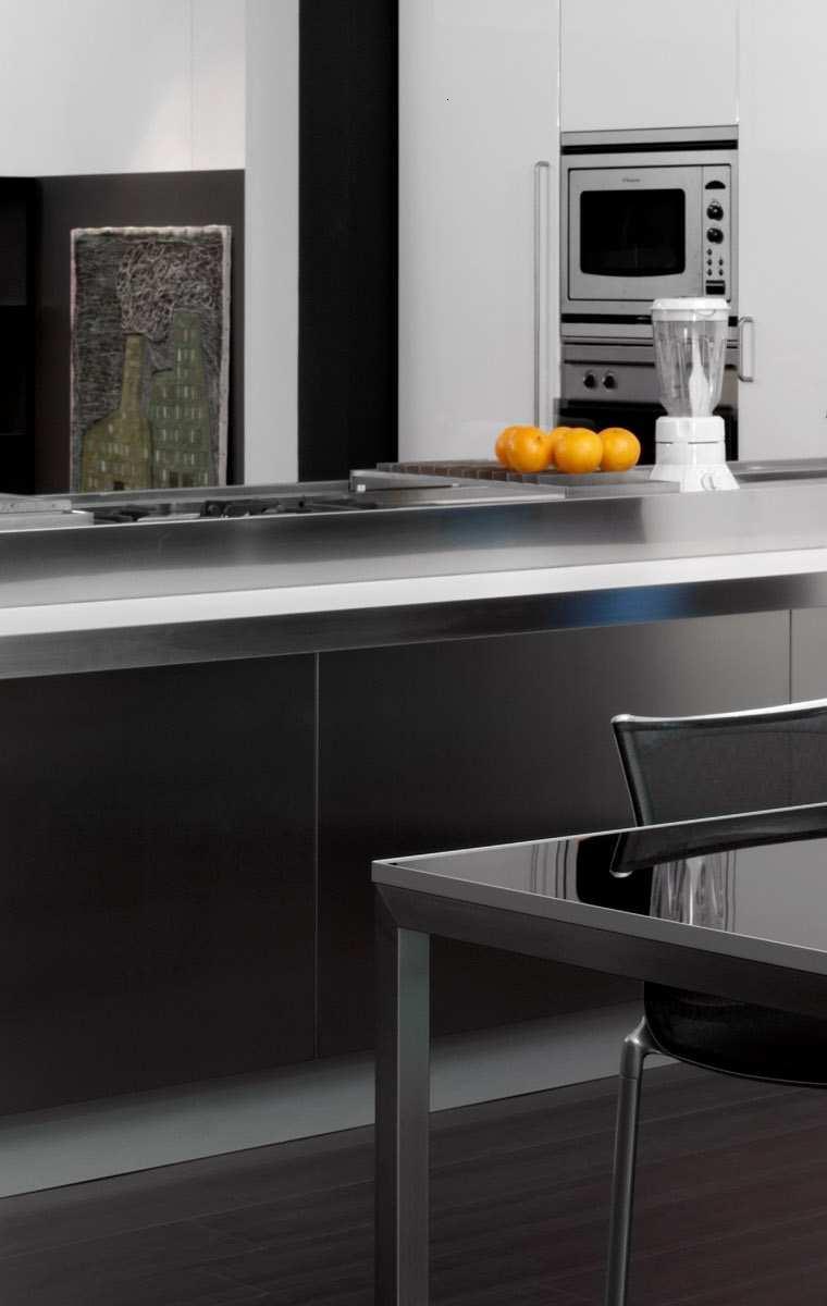 decoración cocina moderna negra