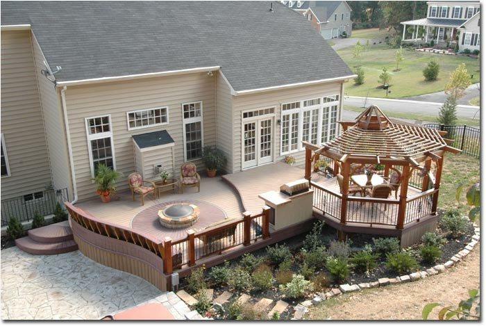 decorado casas forja natural pergola grava
