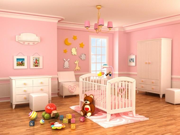 Decorar habitacion bebe y opciones para muebles - Decoracion habitacion rosa ...