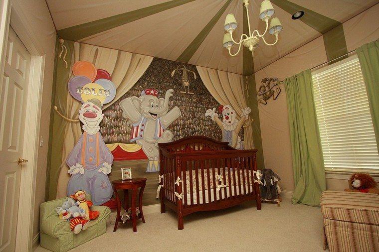 decorar habitacion bebe circo pared ideas