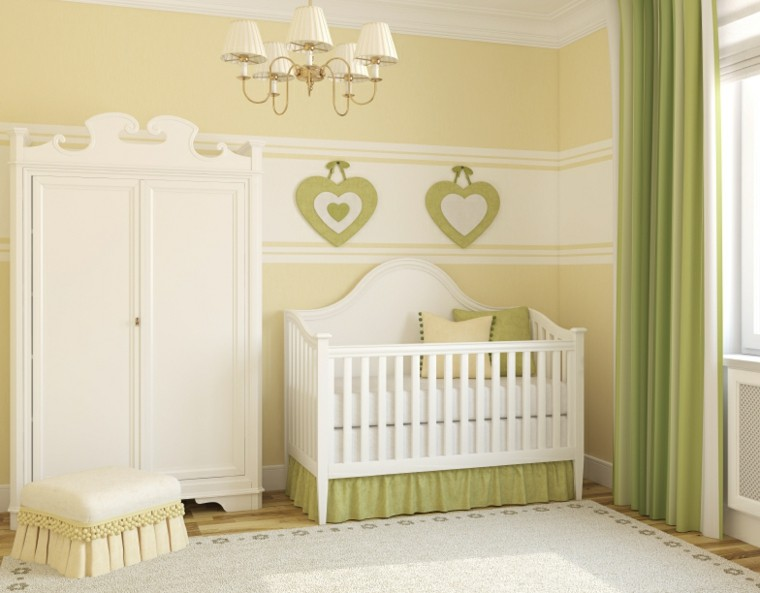 decorar habitacion bebe color verde claro ideas