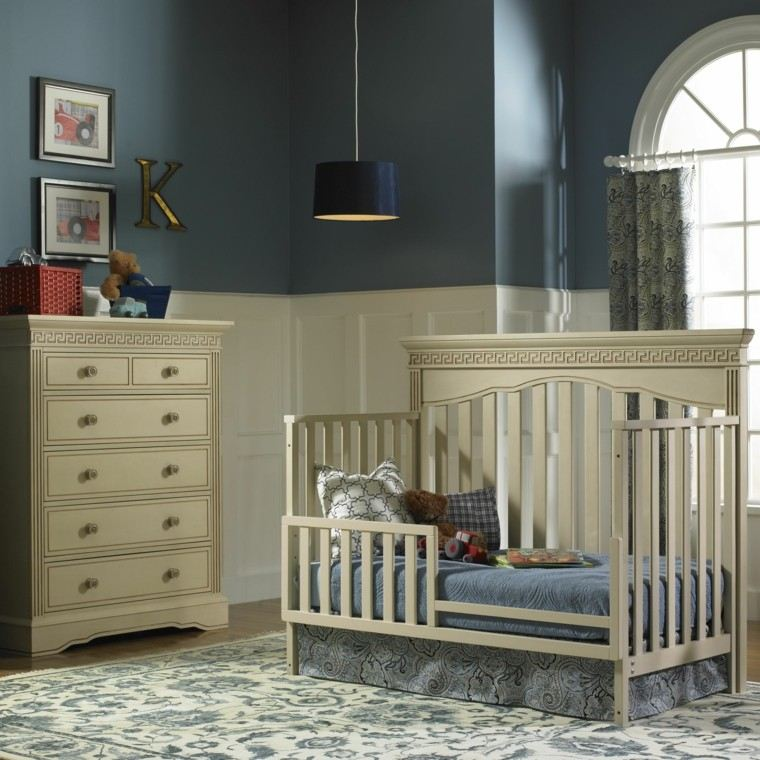 decorar habitacion bebe colores oscuros ideas