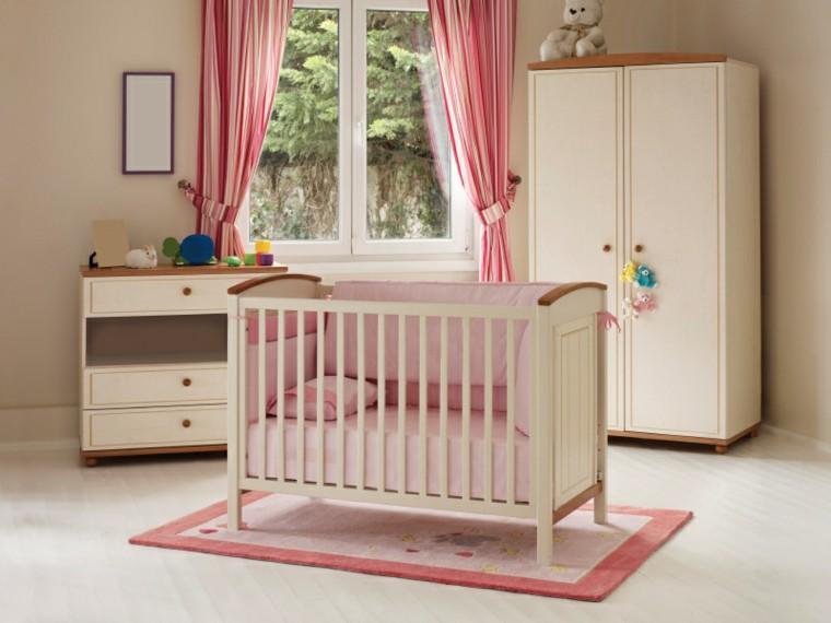 habitacion bebe cortinas rosa ideas