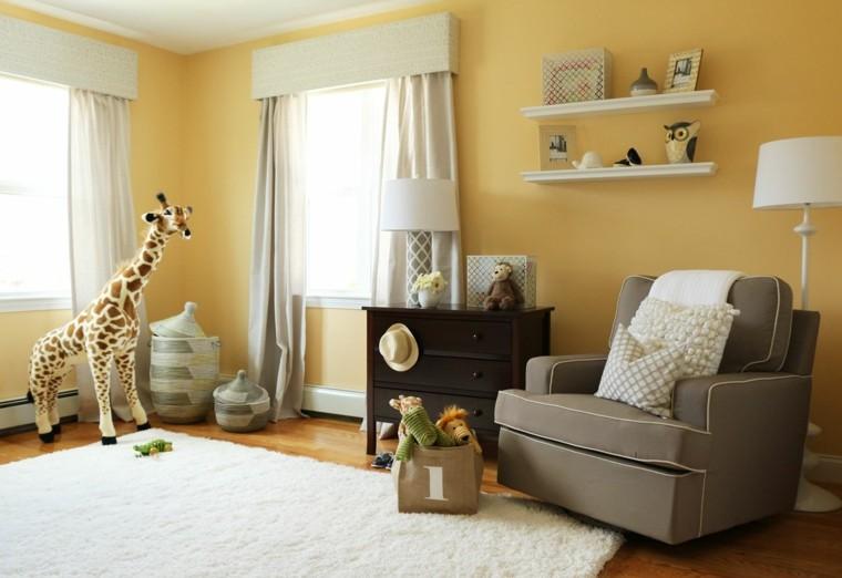decoracion habitacion bebe estanterias pared ideas