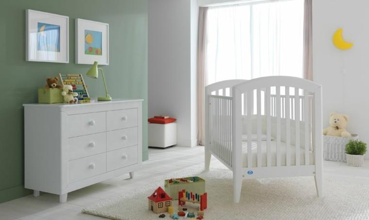 decora habitacion bebe muebles blancos ideas
