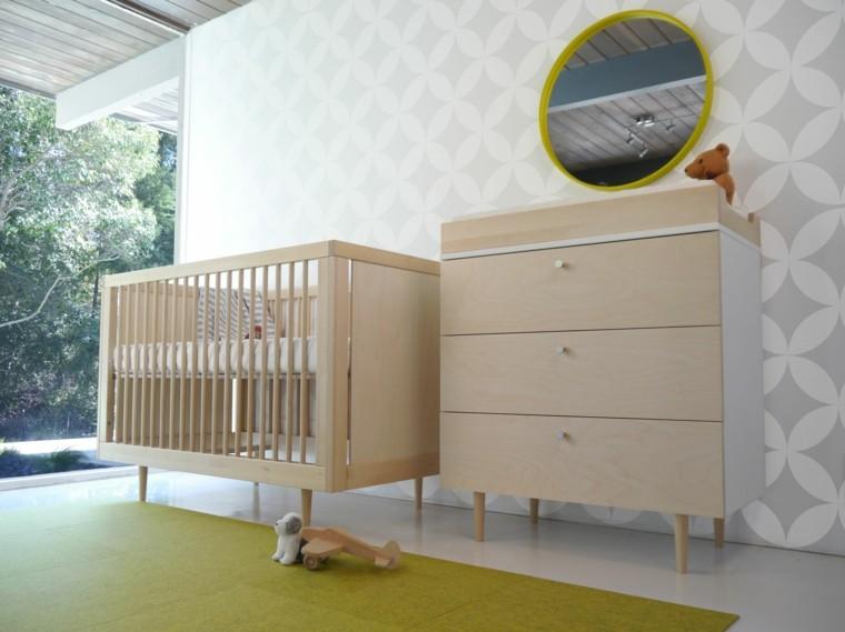 decora habitacion bebe muebles madera ideas
